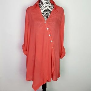 Soft Surroundings Coral Tunic Dress